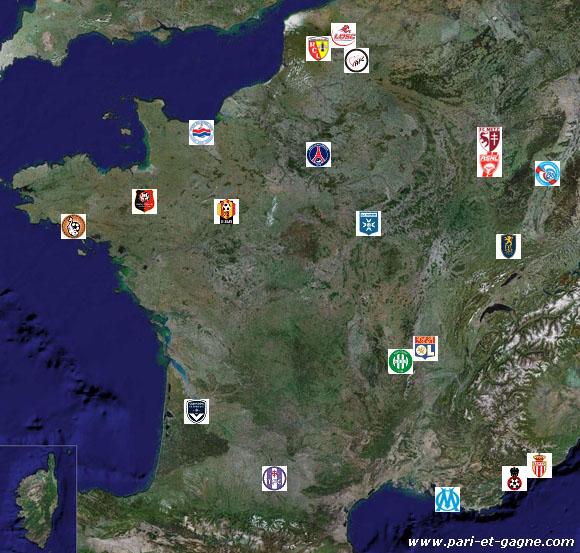 tous les clubs de ligue 1 de la saison 2007-08